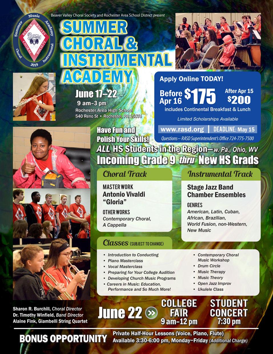 Summer Choral & Instrumental Academy