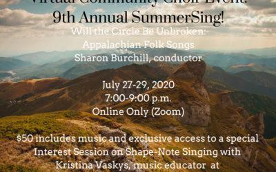 Virtual Community Choir Event: 9th Annual SummerSing!